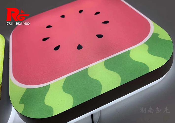创意水果灯箱 LED发光字 长沙迷你字 斜边烤漆发光字