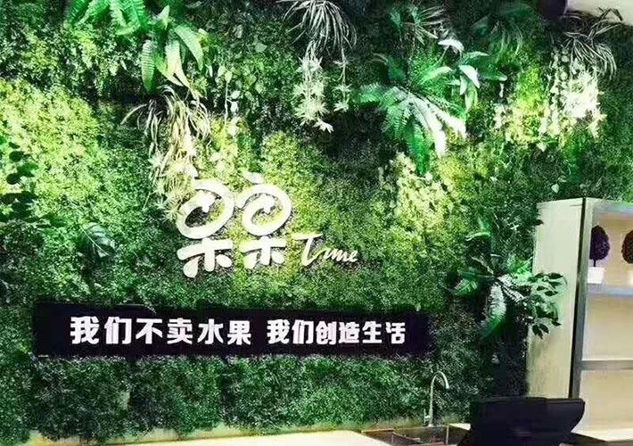 仿真背景墙 绿植背景定制 长沙公司形象墙  背景墙设计