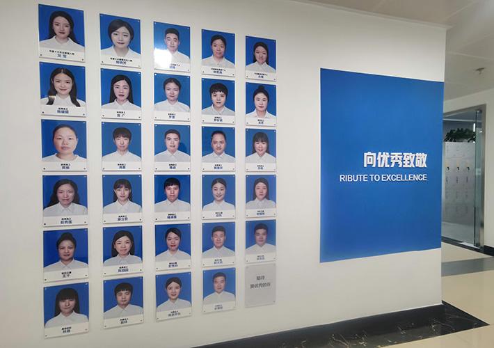 长沙公司文化墙制作,全亚克力材质工艺解决方案