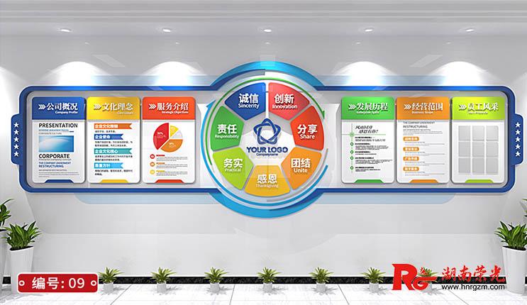 企业文化墙设计制作案例 长沙文化墙效果图(二)
